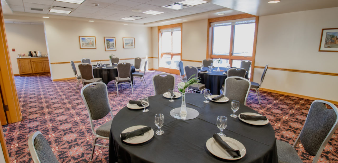 Conference room setup for reception