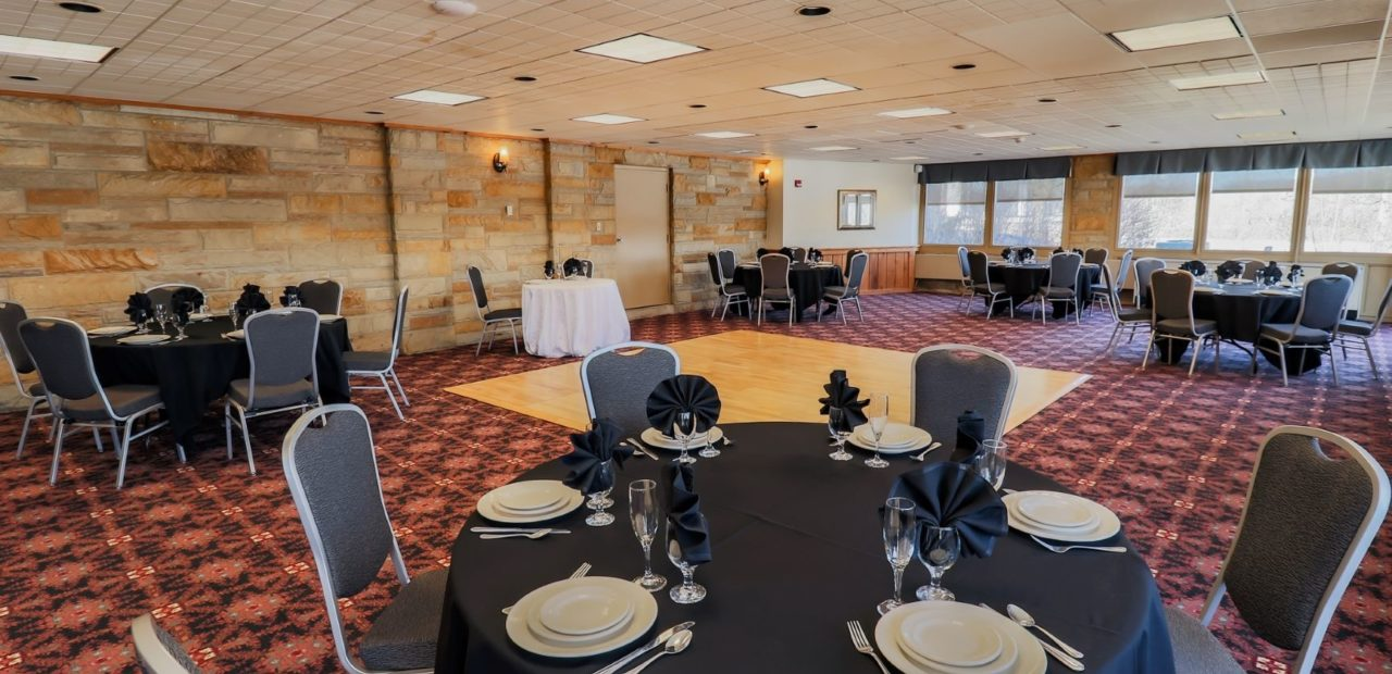 Maple Conference room setup for reception