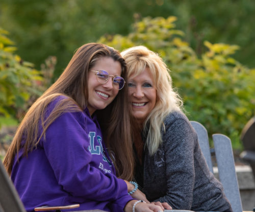 Mother and daughter enjoying the outdoors