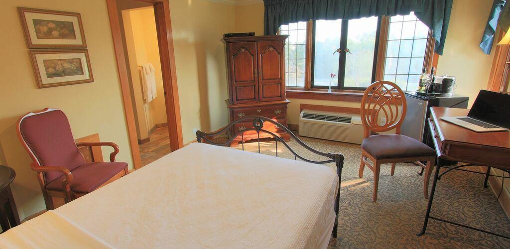 Estate room interior, single bed